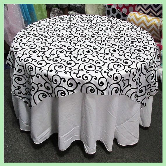"""Table Overlay [58"""" X 58""""][72"""" X 72""""] / Tablecloth Round"""
