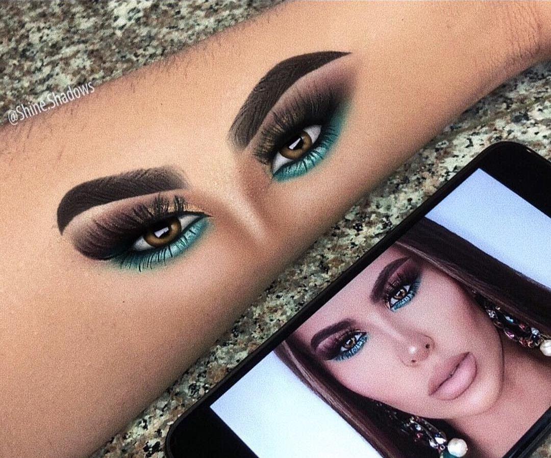 Shine shadows ❤  Artistry makeup, Hand makeup, Eye makeup art