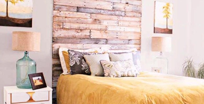 Hout slaapkamer bed hoofdbord zelf maken diy budgi meubels pinterest hout slaapkamer - Slaapkamer hout ...