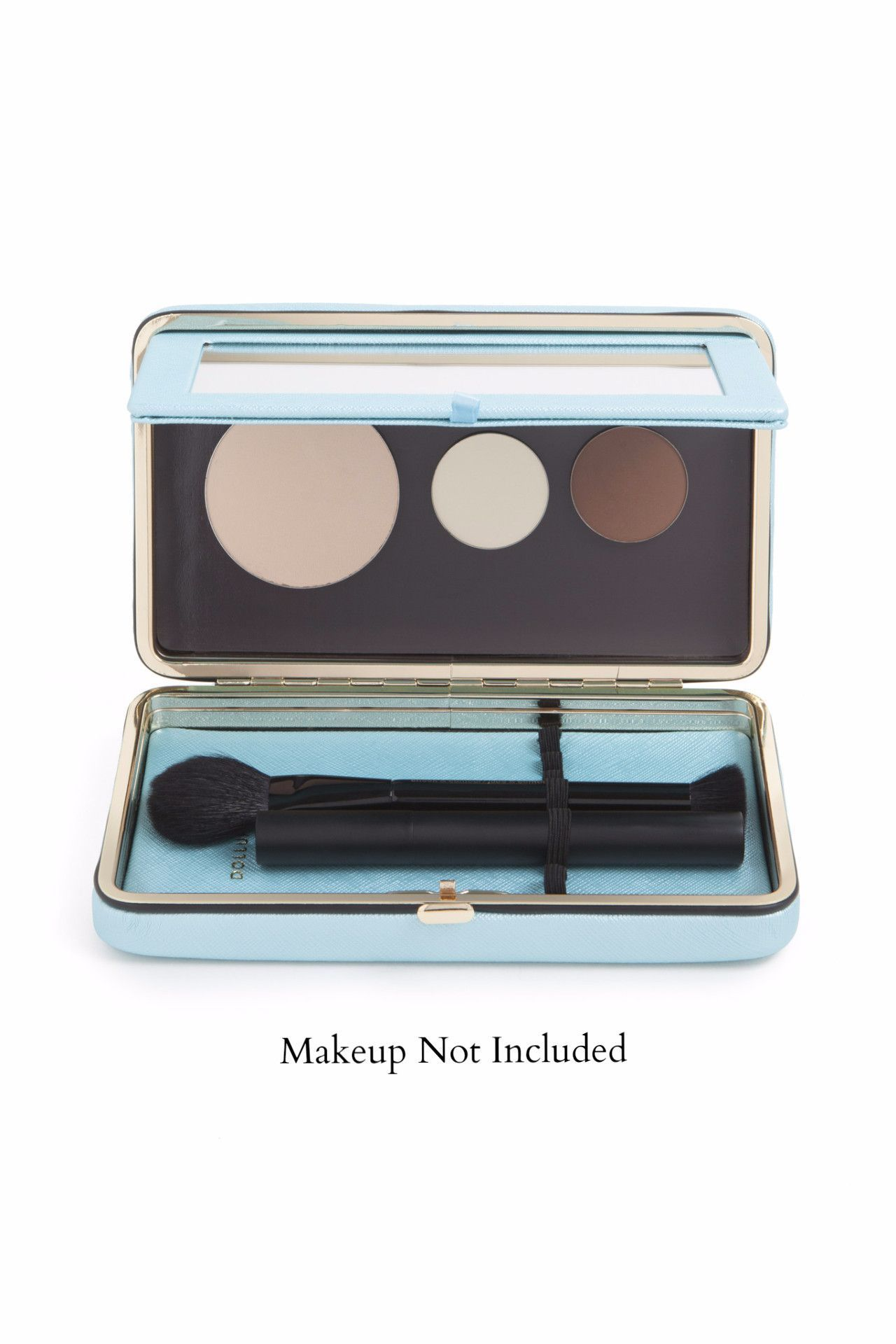 Dollup Case Makeup Organizer W Empty Magnetic Palette In Mintea