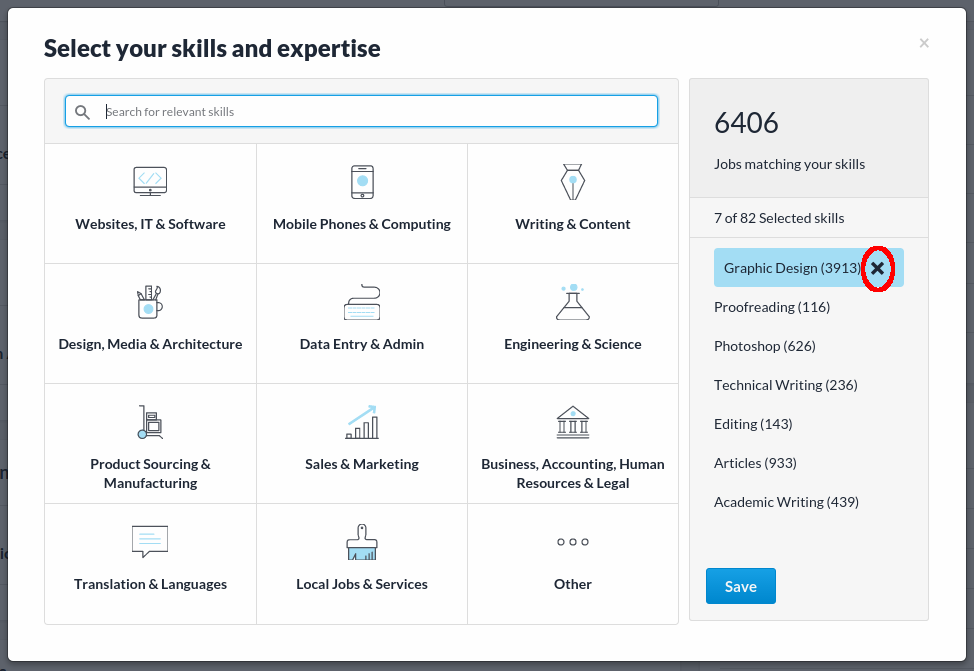 How To Edit Your List Of Skills Profile Freelancer Support List Of Skills Engineering Science Skills