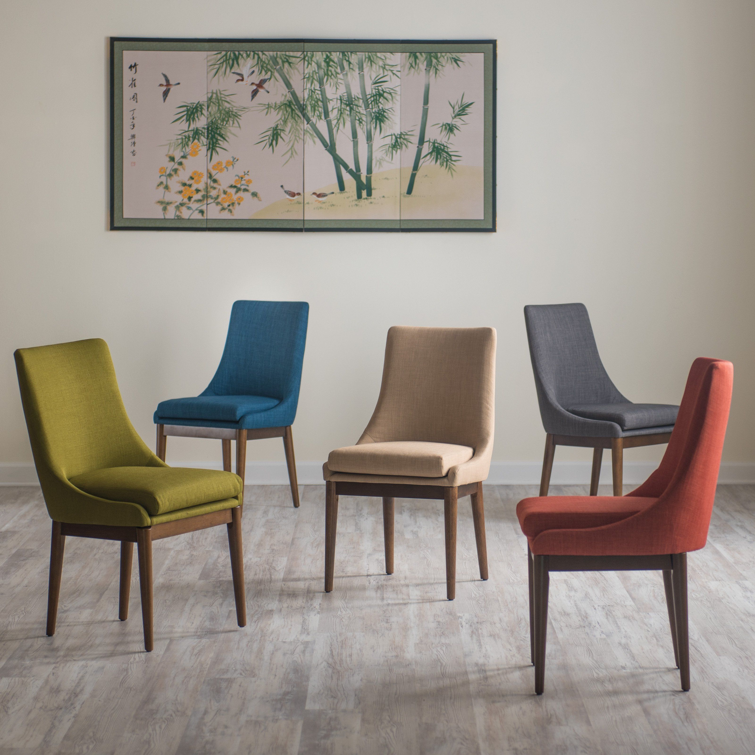 Belham Living Carter Mid Century Modern Upholstered Dining Chair Amusing 2 Chair Dining Room Set Design Inspiration
