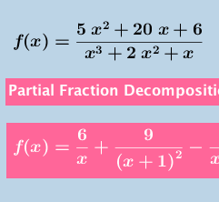 Partial Fractions Decomposition Calculator For Reference Fractions Precalculus Calculus