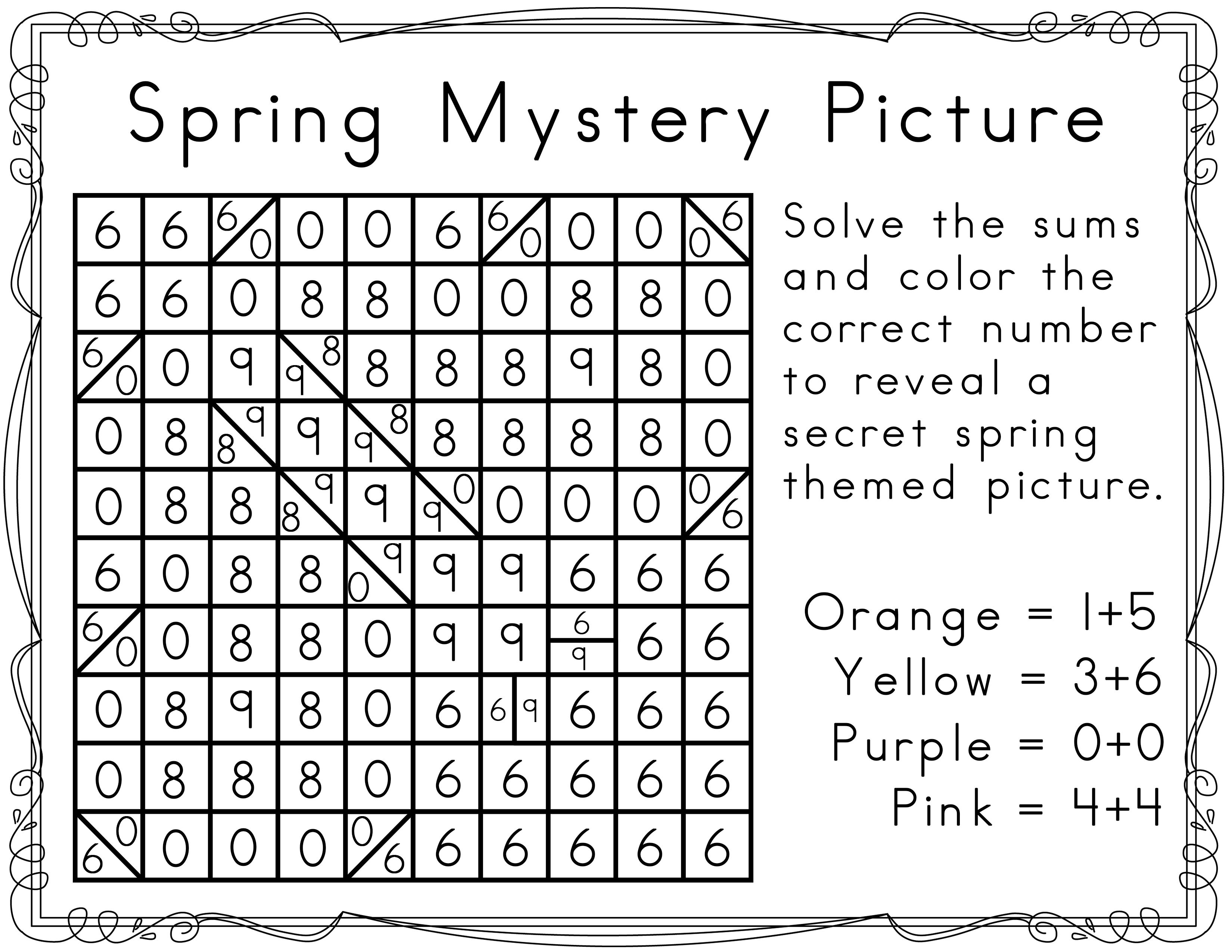 Mystery Pictures For Spring