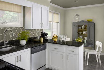 Top Kitchen Paint Colors 2014 Photos Ideas Designs Painting Kitchen Cabinets White Kitchen Design Kitchen Cabinet Colors