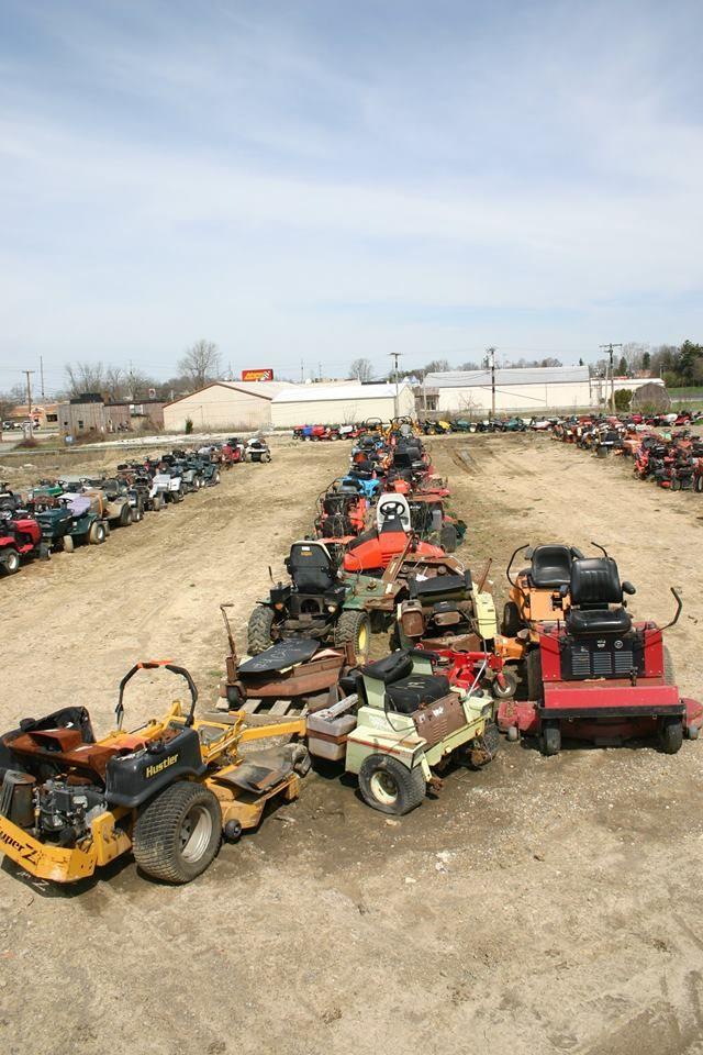Zero turn mower junk yard. | t...