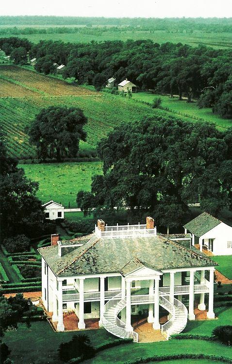 Evergreen Plantation. Parish of St. John the Baptist, Louisiana, 1832.   National Geographic, July 1984.