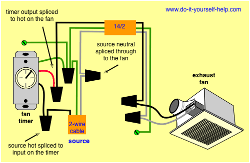 wiring diagram for a bathroom exhaust fan timer | lighting ... on