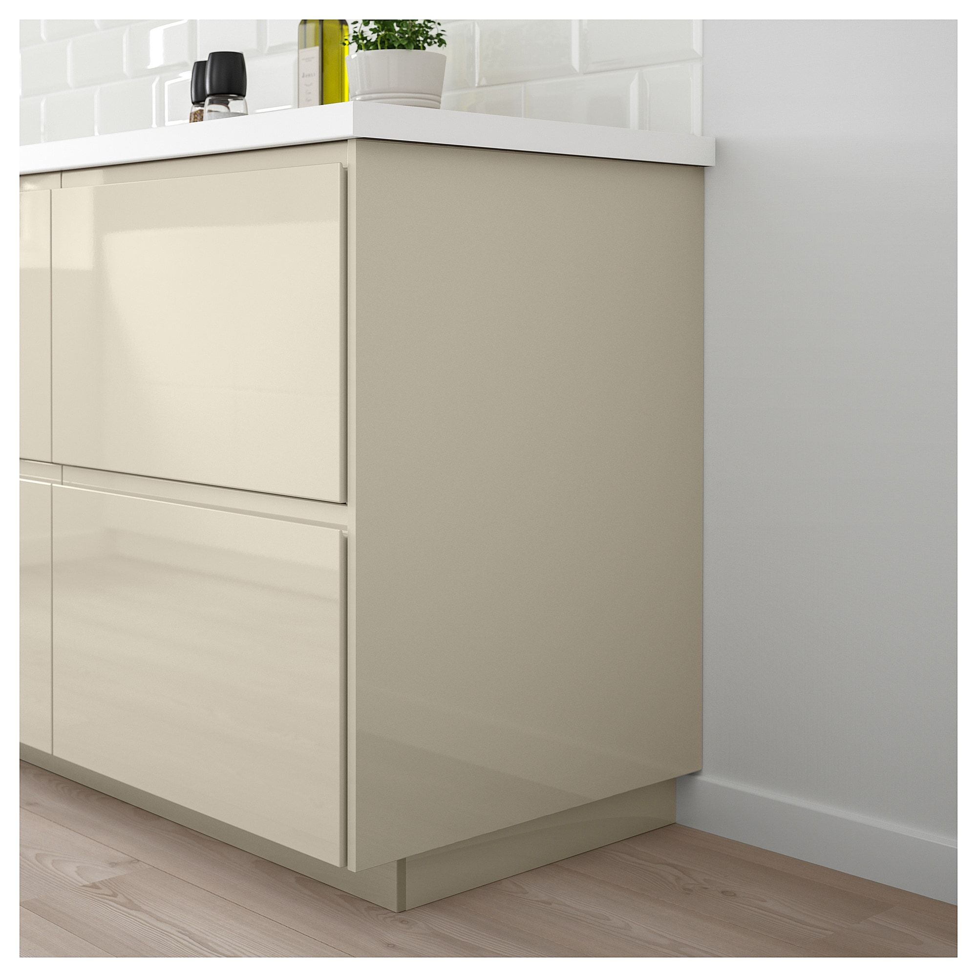 Eckunterschrank Bad Voxtorp Deckseite Hochglanz Hellbeige In 2019 Products Kitchen