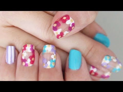 Flower Chain Nails Youtube Snazzy Nails Pinterest Chains