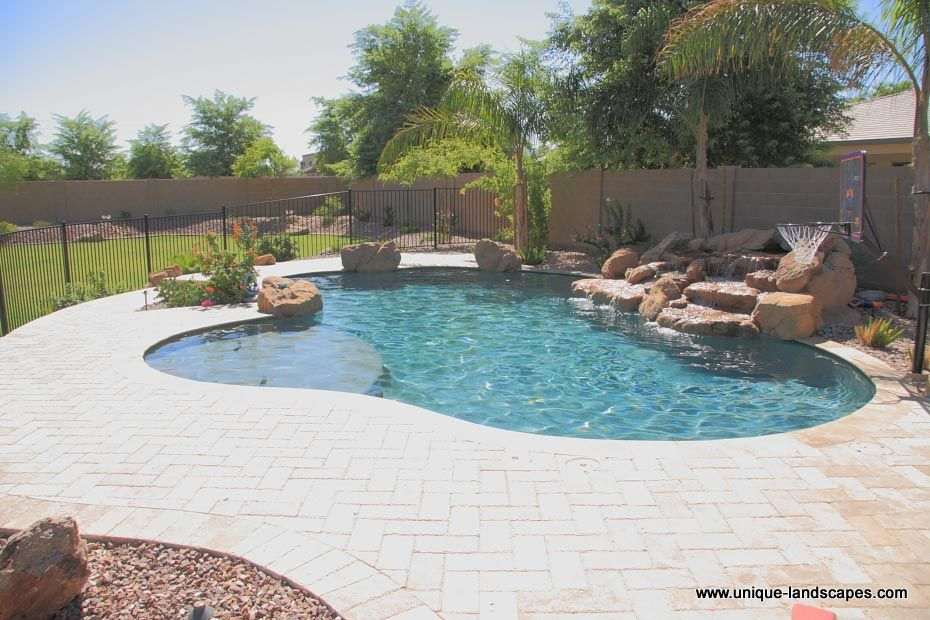 lagoon swimming pool designs | Paradise Oasis Freeform Pool ...