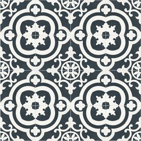 The Reserve Cementina Black And White Ceramic Floor And