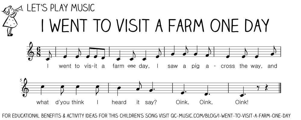 I Went To Visit A Farm One Day First Nursery Songs Music