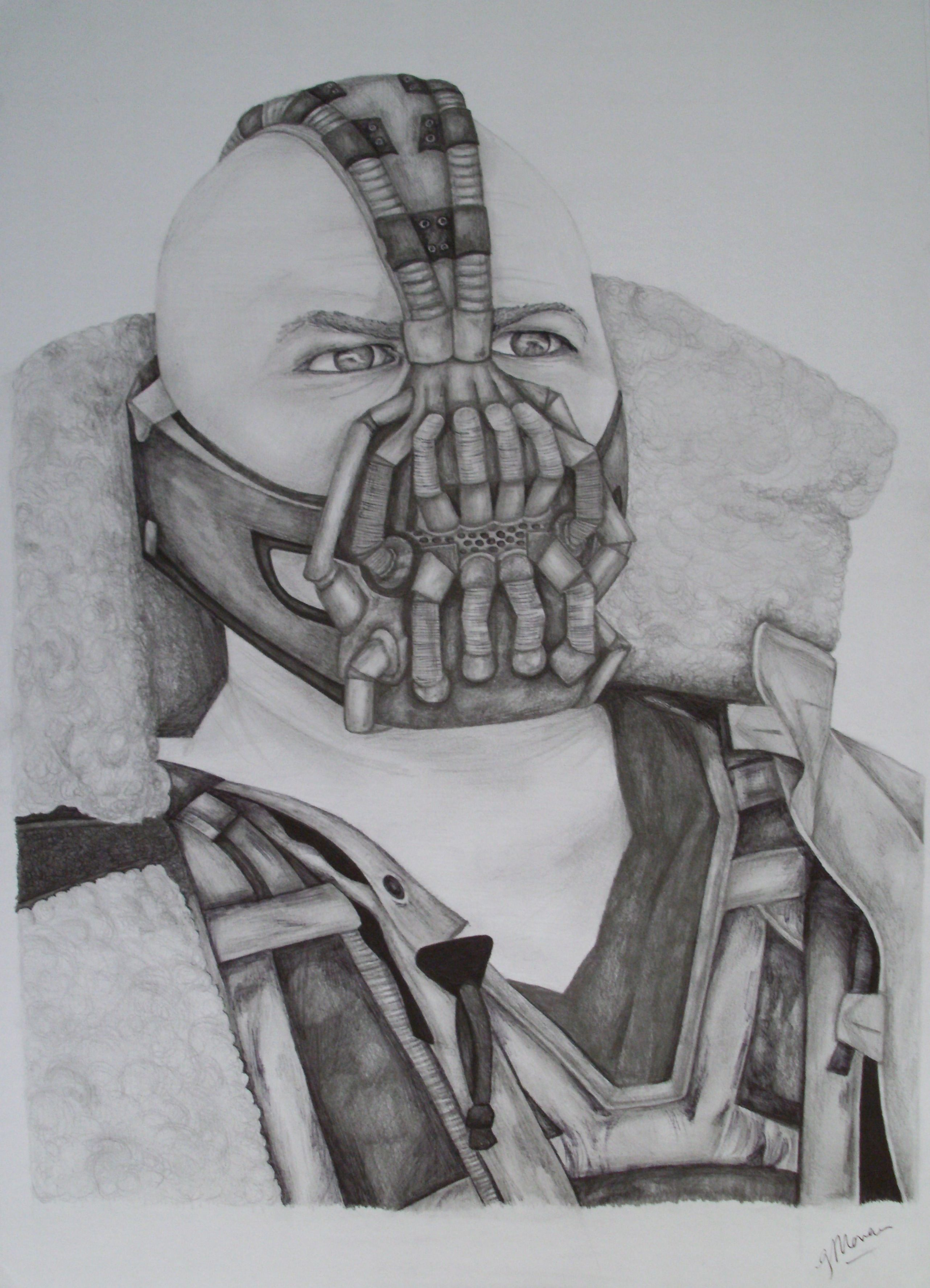 Bane Tom Hardy Portrait A3 Pencil And Ink Amazing Drawings