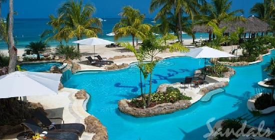 Sandals Negril Beach Resort & Spa: Poolview at Sandals ...