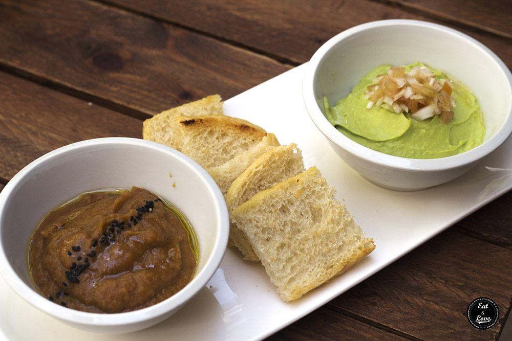 Dip de berenjena asada y guacamole - El Huerto de Lucas