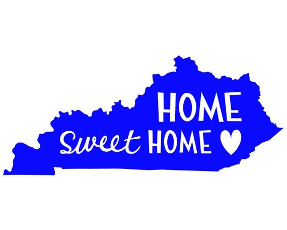 Kentucky Home Sweet Home Heart Vinyl Decal With Images