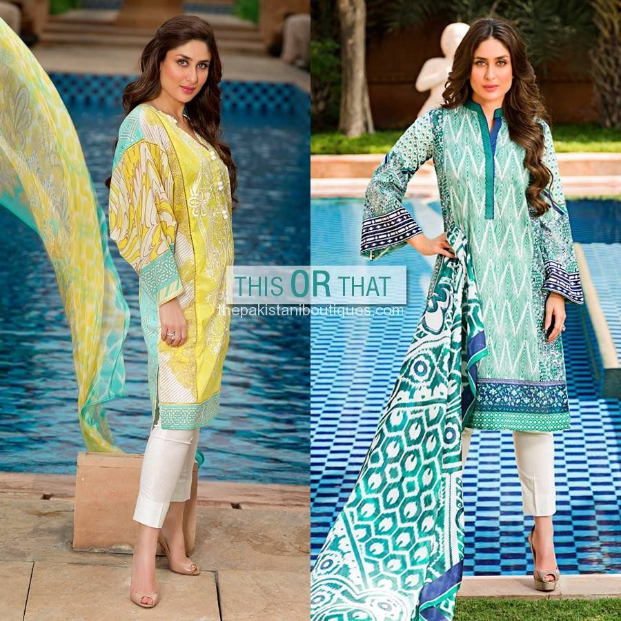 Crescent Lawn 2014 by Faraz Manan featuring Kareen Kapoor is part of lawn Suits Crescents - Crescent Lawn 2014 by Faraz Manan featuring Kareen Kapoor