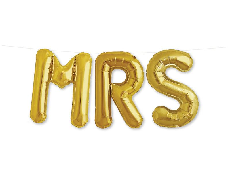 MRS Letter Balloons, Bridal Shower Decor, Bachelorette Party - Mrs Balloon Kit, Gold or Silver Mylar foil Balloons + Tassels by StudioPep on Etsy https://www.etsy.com/listing/242430379/mrs-letter-balloons-bridal-shower-decor