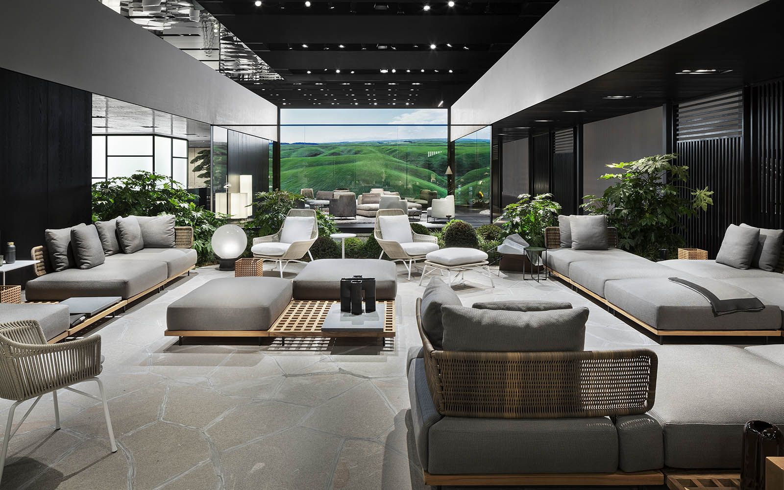 Quadrado outdoor seating system marcio kogan studio mk27 design prince cord outdoor armchair rodolfo dordoni design