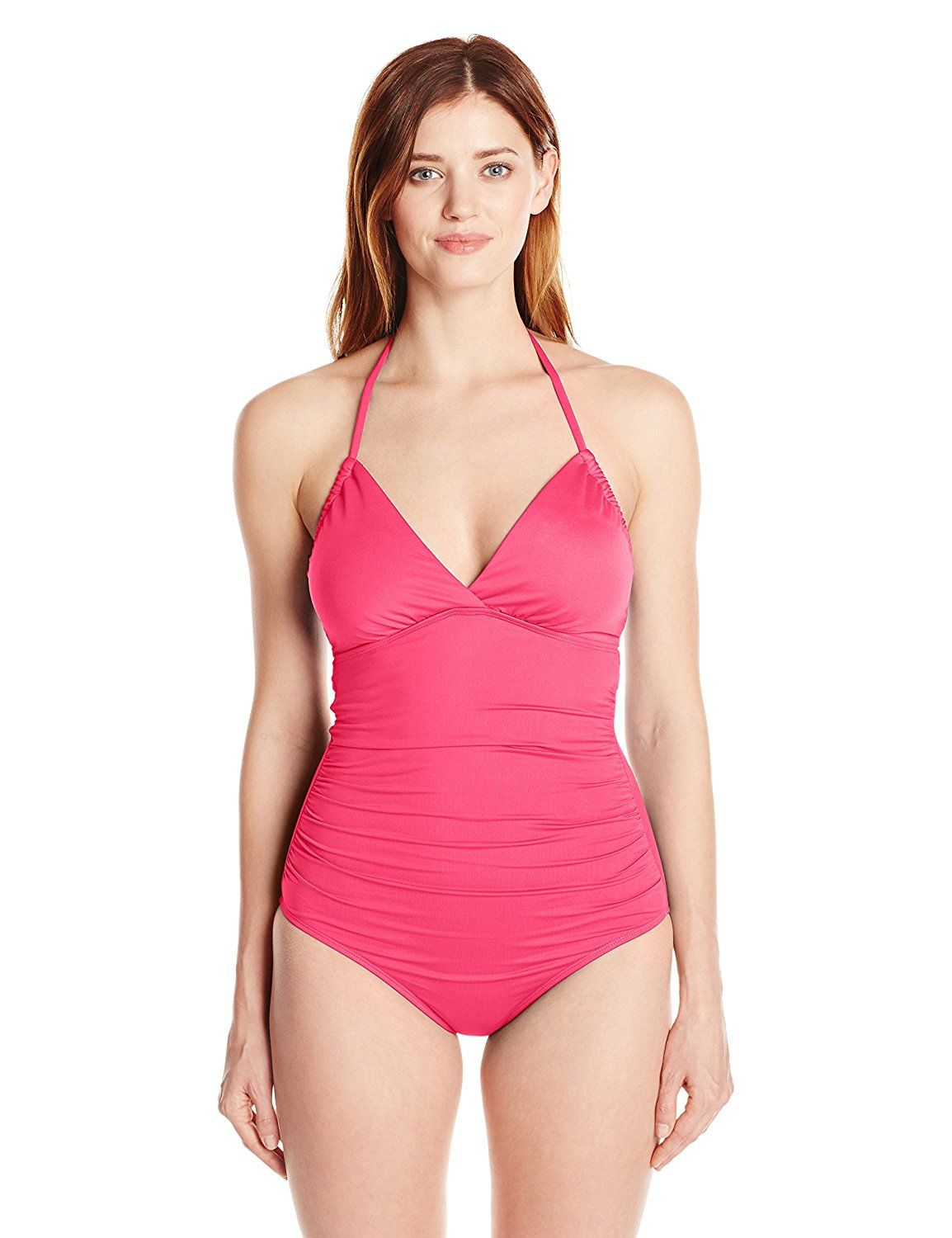 Lark & Ro Women's One-Piece Swimsuit with Adjustable Armhole at Amazon Women's Clothing store: