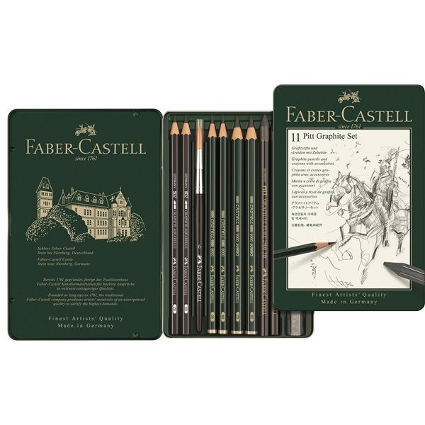 Faber Castell Pitt Graphite Set Of 11 Pieces Faber Castell