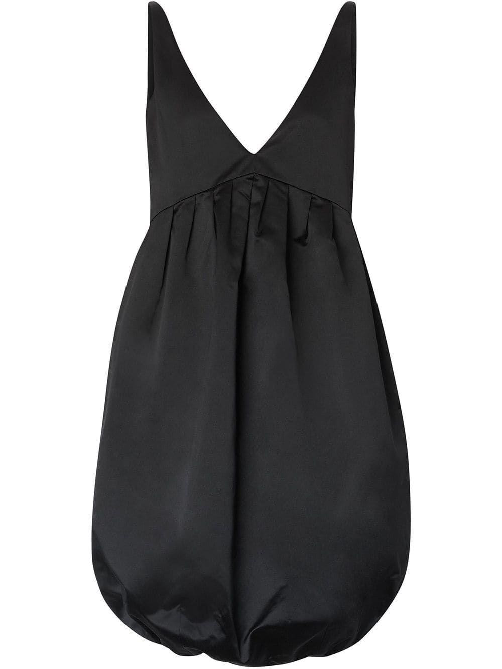 Burberry Duchess Satin Bubble Hem Dress - Black #duchesssatin