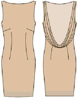 Качели на спинке платья
