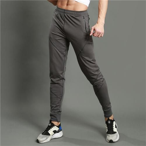 Running Pants Running 2019 Latest Design Men Running Pants Male Leggings For Gym Fitness Training Solid Sweatpants Tight Long Joggers Breathable Outdoor Sporting Pants