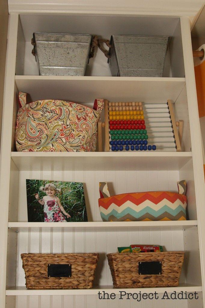 shells bookshelf decorating superb shelf shelving bookcase baskets bookcases storage with basket