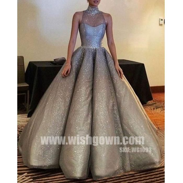 Sparkle Halter New Arrival Inexpensive Evening Long Prom Dresses ...
