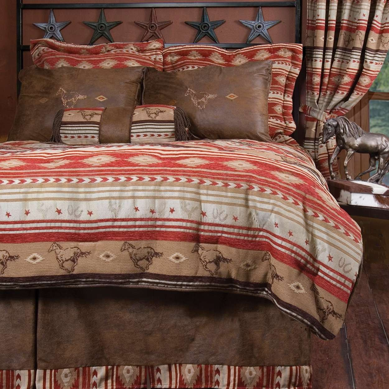 Western Flying Horse Ranch FullQueen Size Bedding