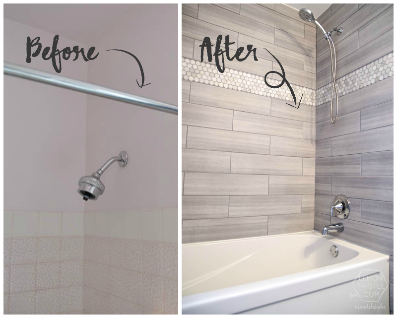 Bathroom Makeovers Tile diy bathroom remodel on a budget (and thoughts on renovating in