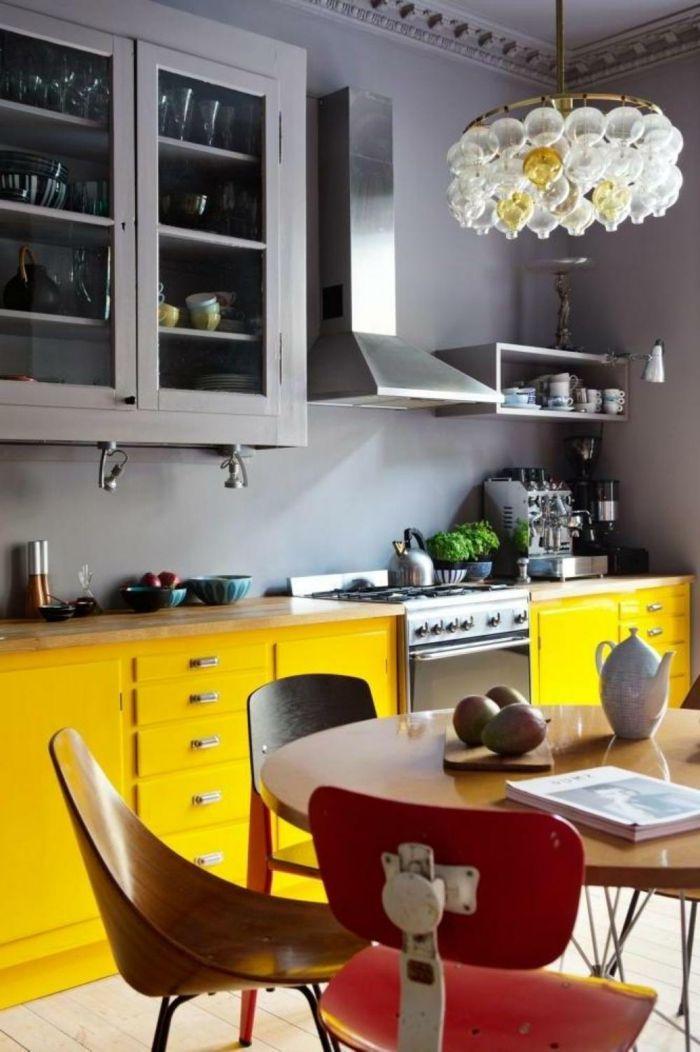 moderne küchen gelb grau und rot kombinieren Farben \u2013 neue Trends