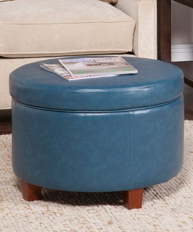 Awesome Love This Large Round Teal Faux Leather Storage Ottoman On Andrewgaddart Wooden Chair Designs For Living Room Andrewgaddartcom