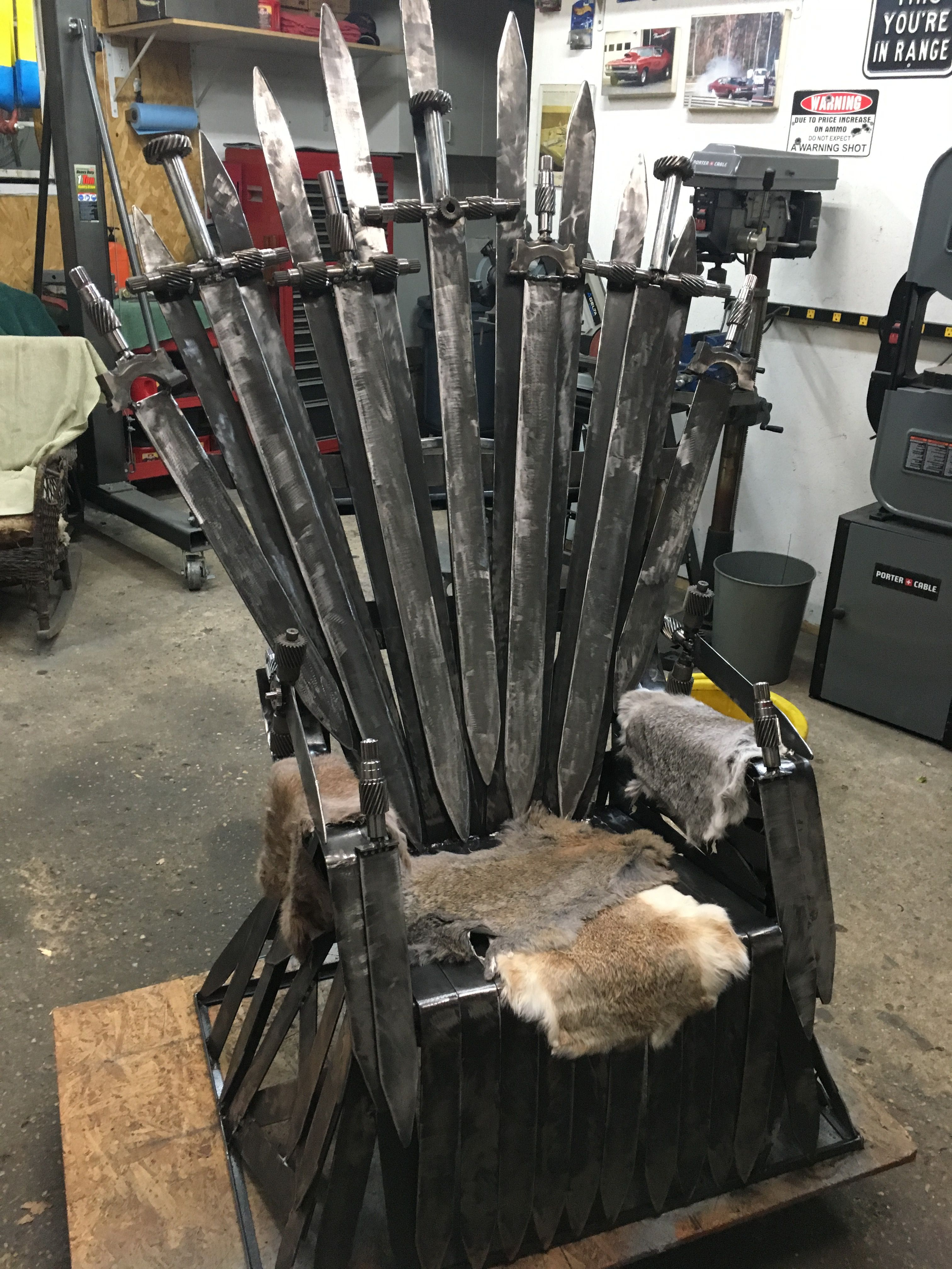 Scrap Metal Art Game of Thrones Iron Throne by Sharon