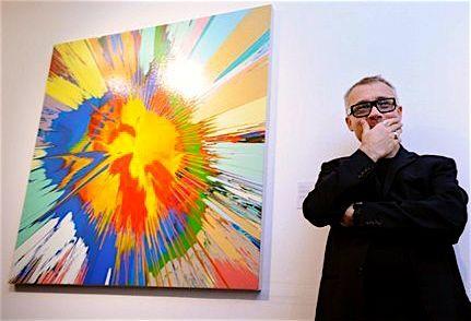 Image result for spin art damien hirst