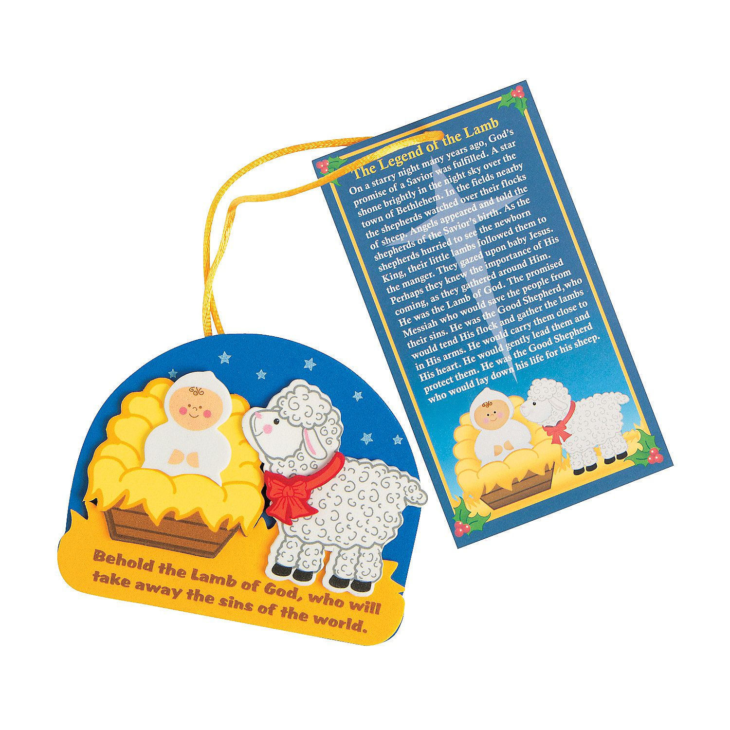 """""""The Legend Of The Lamb"""" Christmas Ornament Craft Kit"""