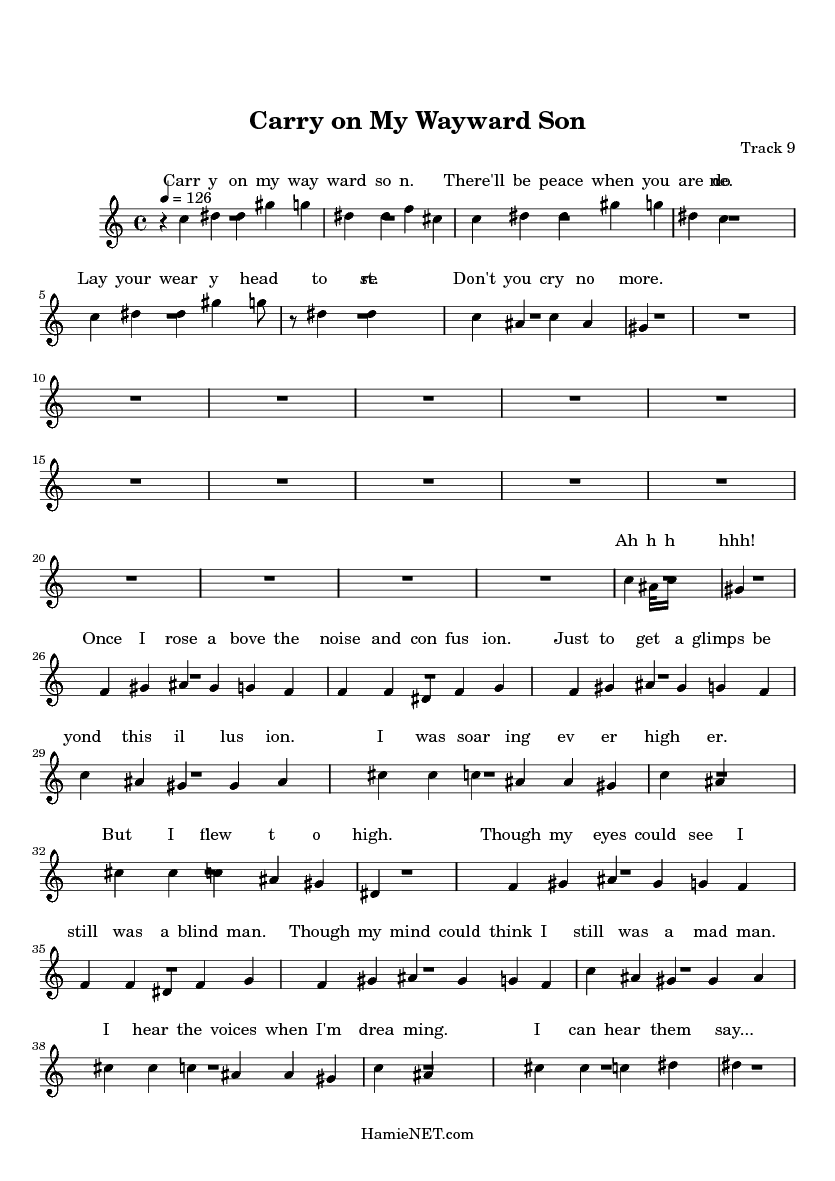 www.hamienet.com Carry-on-My-Wayward-Son-sheet-music-page_25960-9-1.png