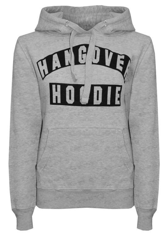 Letter Printed Pullover Hangover Hoodies In 2020 Long Sleeve Hoodie Women Pullover Letter Print Hoodie