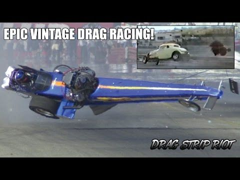 619) WILD RIDES RACE CARS Drag Racing Crashes Wrecks Video