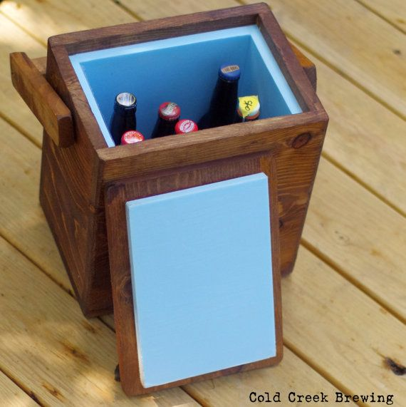 Beer Igloo Picnic Cooler Insulated Carton Wooden