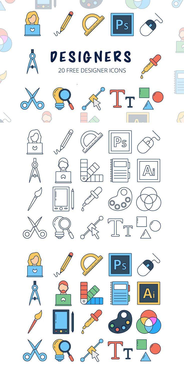 Free Designers Vector Icon Set Designers Free icon