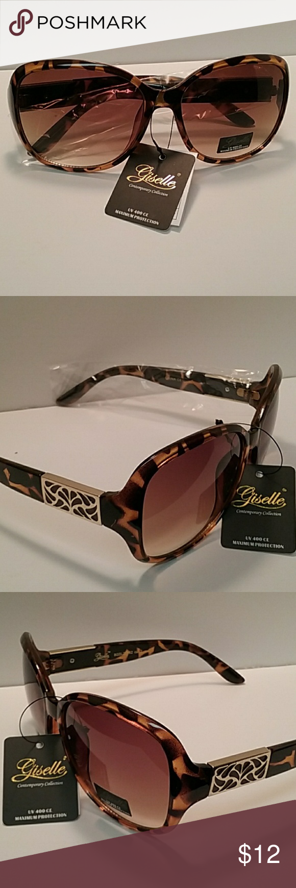 2f0bf044d9964 GISELLE CONTEMPORARY COLLECTION SUNGLASSES GISELLE CONTEMPORARY COLLECTION  SUNGLASSES NWT STYLISH MULTI COLOR PLASTIC FRAME TWO TONE
