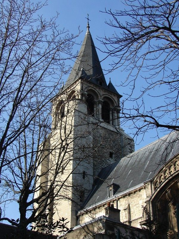 Saint-Germain-des-Prés Church, oldest church in Paris. 6th century!