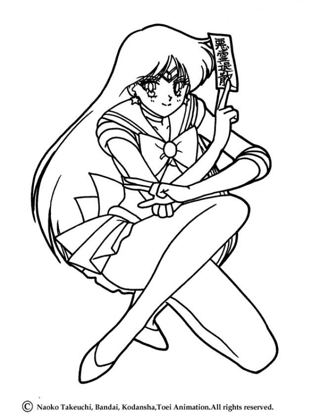 Sailor Moon Coloring Pages Sailor Mars Posture Sailor Moon