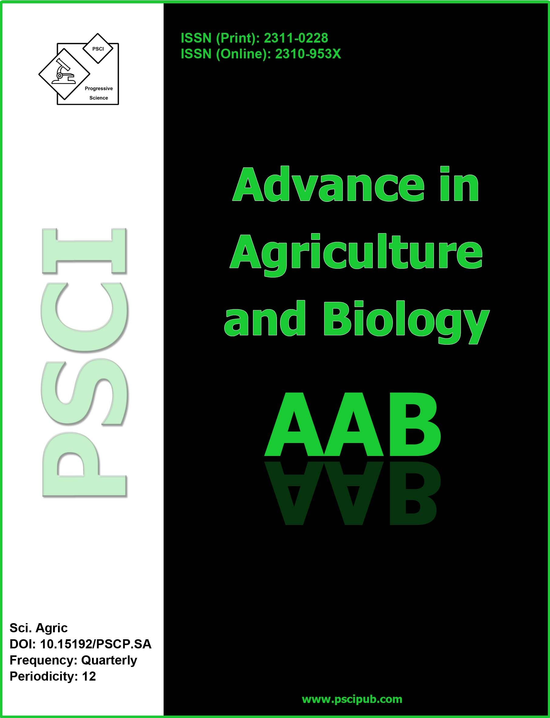 Advance In Agriculture And Biology