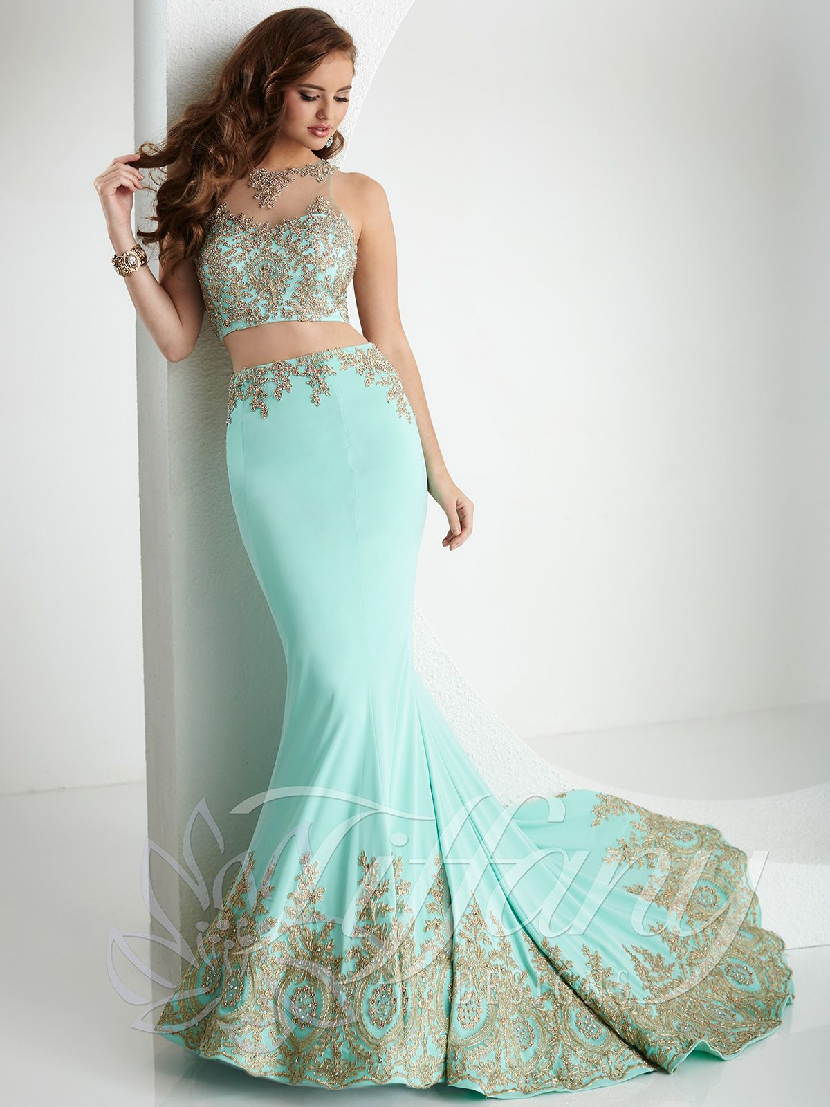 Two Piece Prom Gown by Tiffany Designs 16160Authorized House of Wu ...