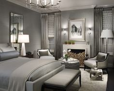 Grey Bedroom By Michael Abrams Limited LOVE The Monochromatic Color Scheme
