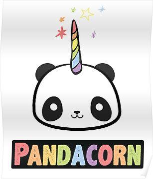 The Original Pandacorn Unicorn Panda Kawaii Funny Rainbow Graphic Poster By Desindie In 2021 Cute Panda Wallpaper Cute Kawaii Drawings Cute Panda Drawing